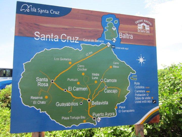 Baltra airport and Santa Cruz Island