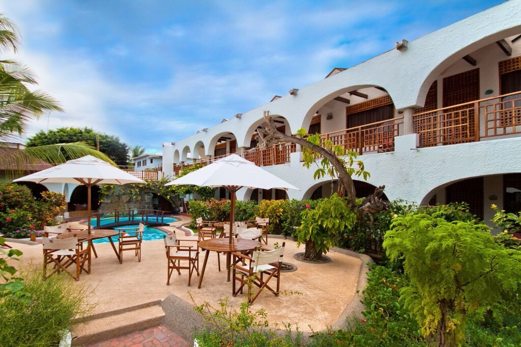 Hotels like Silberstein in Puerto Ayora offer comfort with daily tours to other islands