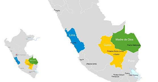 Peru travel map
