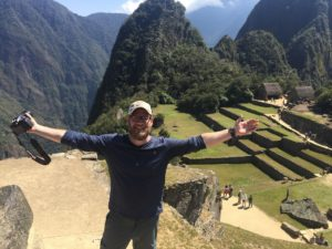 Happy at Machu Picchu