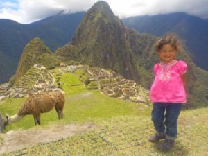 Leticia at Machu Picchu
